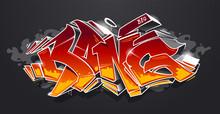 Bang Graffiti Vector Art