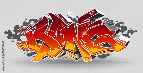 La pose en embrasure Graffiti Bang Graffiti Vector Art