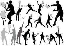テニス シルエットイ...