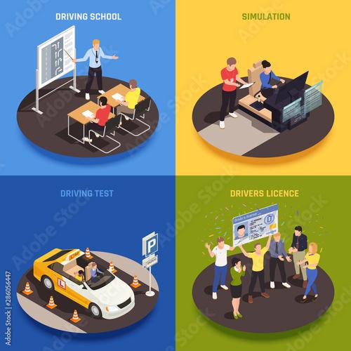 Driving Course Design Concept Canvas Print