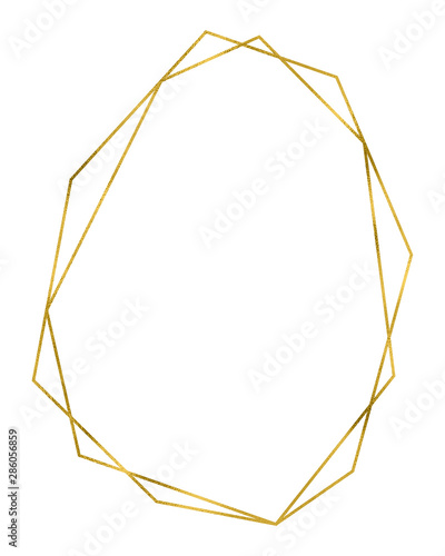 Photo  Gold geometrical linear frame
