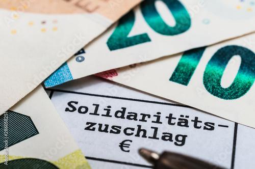 Abschaffung Solidaritätszuschlag Canvas Print