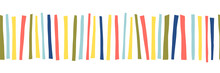 Seamless Border Doodle Stripes...