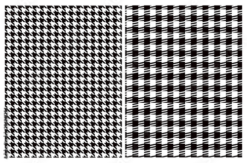 Photo  Simple Vector Pattern with Black and White Houndstooth and Grid