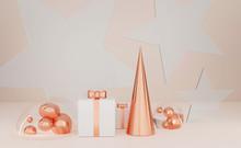 Copper Christmas Tree, Gift Bo...
