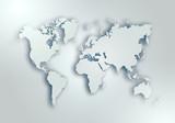 World digital outlined map background - 286070073