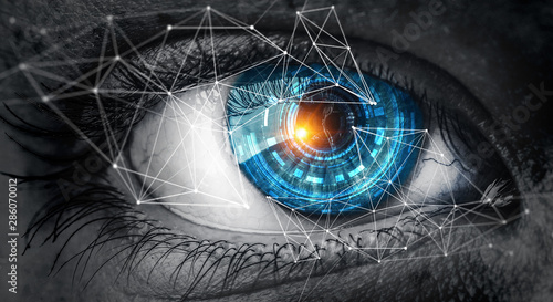 Abstract high tech eye concept Fototapete
