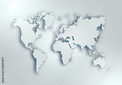 World digital outlined map background - 286070073