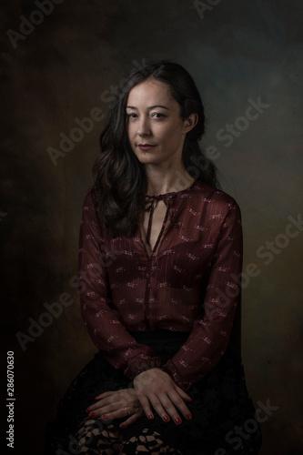Fotomural elegant portrait of beautiful woman