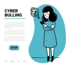 Cyber Bulling Web Template. Sa...
