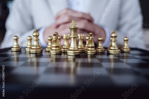 Cuadros en Lienzo Strategic Planning, Business Competition, Show planning chess the competition to fight in the business world