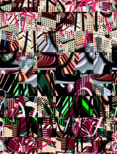 Fototapeta Abstract design with art and texture elements obraz na płótnie