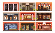 Retro Shop Store Facade With S...
