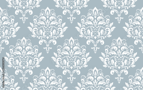 Tapety Barokowe  tapeta-w-stylu-barokowym-bezszwowe-tlo-bialy-i-niebieski-kwiatowy-ornament-wzor-graficzny-na-tkanine-tapete-opakowanie-ozdobny-ornament-z-kwiatow-adamaszku