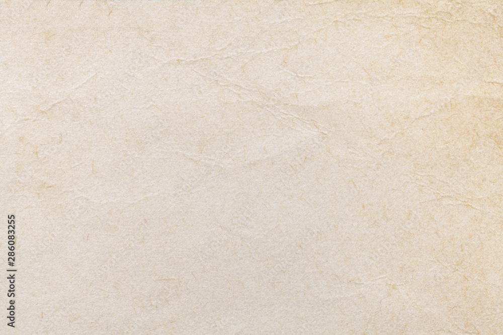 Fototapety, obrazy: Texture of beige old paper, crumpled background. Vintage white grunge surface backdrop.