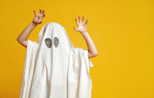 Kid In Ghost Costume