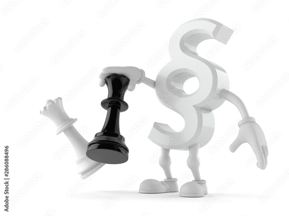 Fototapety, obrazy: Paragraph symbol character playing chess
