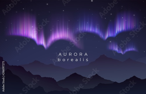 Photo Aurora borealis vector illustration