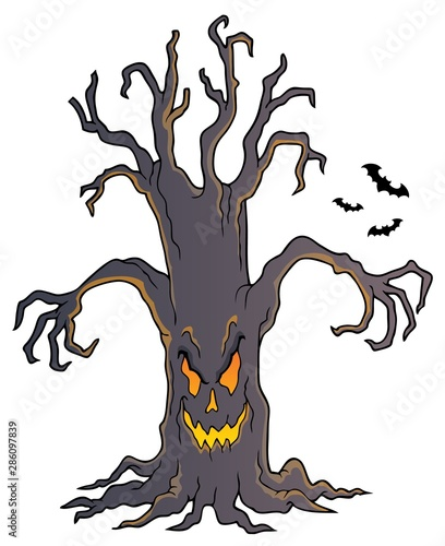 Papiers peints Enfants Spooky tree topic image 4