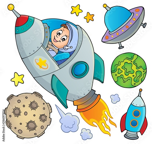 Fotobehang Voor kinderen Space topic collection 1