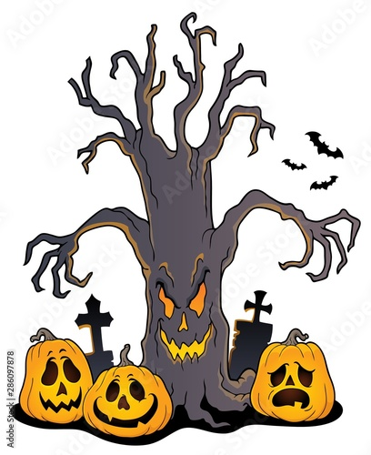 Papiers peints Enfants Spooky tree topic image 5