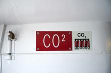 Hinweissschild Auf CO2 Feuerlöscher