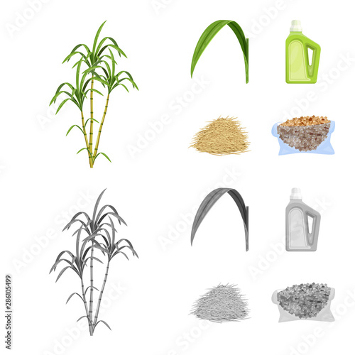 Photo Vector illustration of farm and agriculture icon