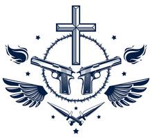 Gangster Thug Emblem Or Logo W...