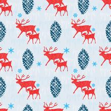 Reindeer And Calf Christmas Se...