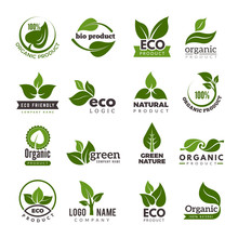 Leaf Logo. Bio Nature Green Ec...