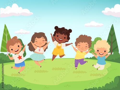 Obraz na płótnie Happy kids background