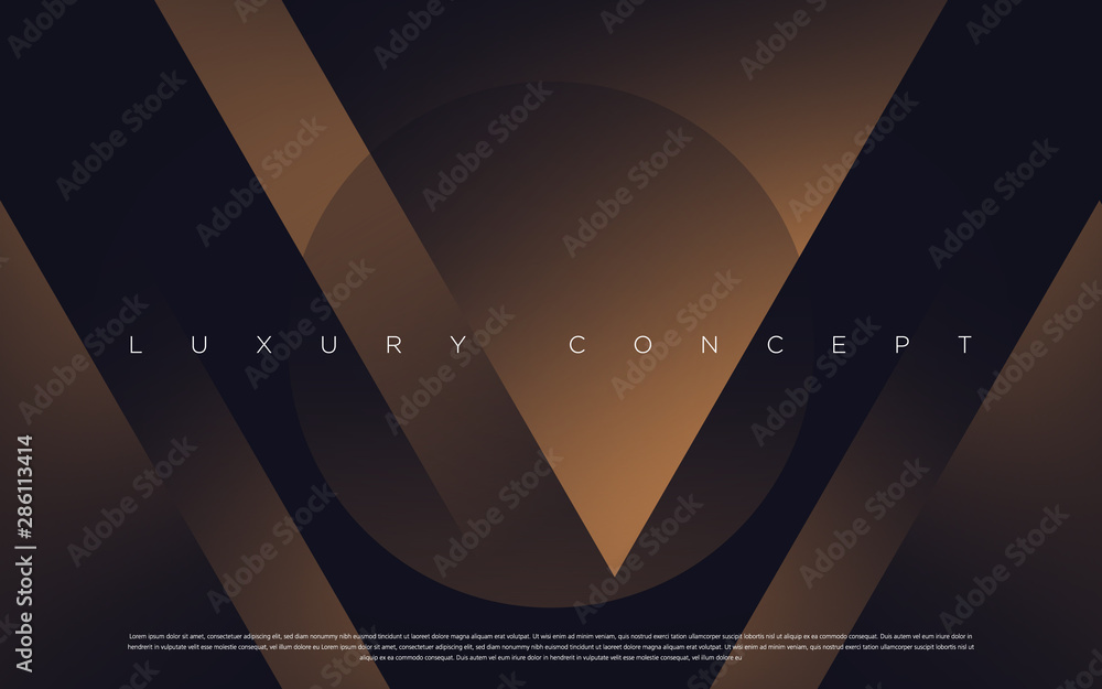 Fototapety, obrazy: Black premium background with luxury dark V letters and golden effects. Rich vector background for your exclusive design.