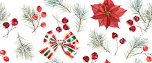 Christmas Watercolor Seamless ...