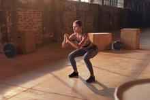 Fitness Workout. Sport Woman D...