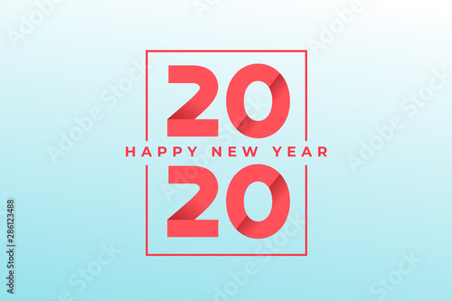 Papel de parede  Happy new year 2020 greeting card design