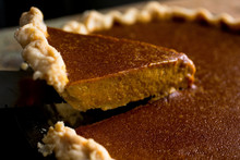 Close Up Of Brandied Pumpkin Pie