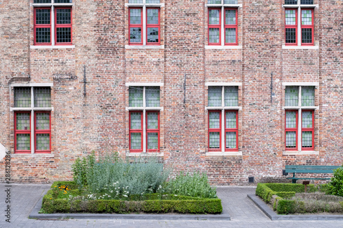 Building made up of bricks dating from the medieval times in Bruges, Belgium Wallpaper Mural