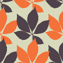 Vector Orange And Brown Autumn...