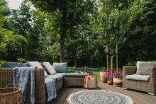 Garden Patio Decorated With Sc...