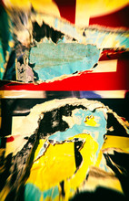 Old Ripped Torn Posters Grunge...