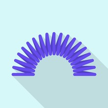 Toy Spring Icon. Flat Illustration Of Toy Spring Vector Icon For Web Design