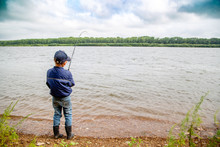 Little Fisherman Pulls Fish