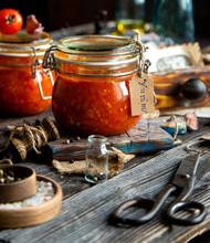 Homemade Canned Hot Tomato Sau...