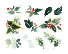 Set Of Christmas Elements For ...