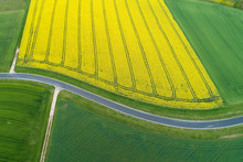 Abstract Aerial View Of Rural ...