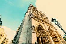 Notre Dame Catheral In Vintage Tone
