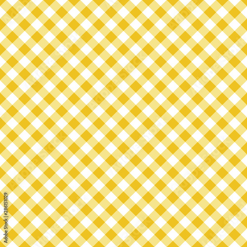 Fototapeta  Vector seamless classic yellow table cloth texture with diagonal lines