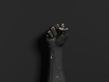 Black And Gold Metallic Hand F...