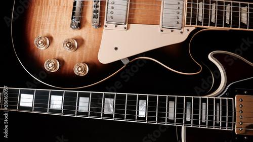 electric guitar . dark background. closeup - 286163057