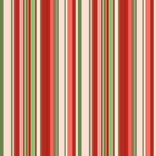 Coral Red, Green And Dull Pink Vertical Stripes Of Different Widths, Seamless Pattern, Vector.